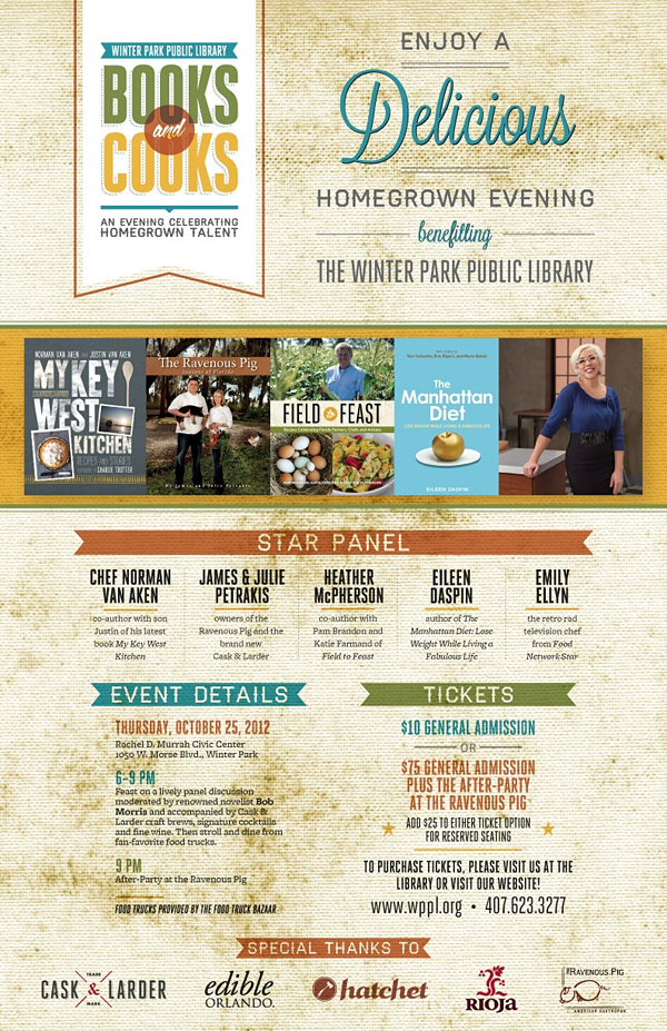 Books and Cooks - An Evening Celebrating Homegrown Talent