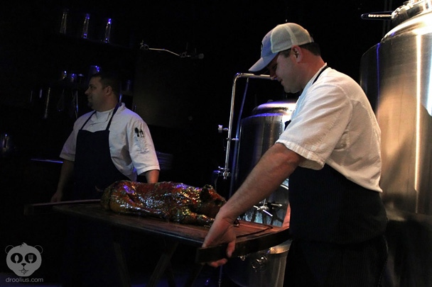 Cask and Larder Whole Cookery Feast Smoked Suckling Pig