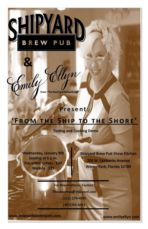 Emily Ellyn Shipyard Beer cooking demo
