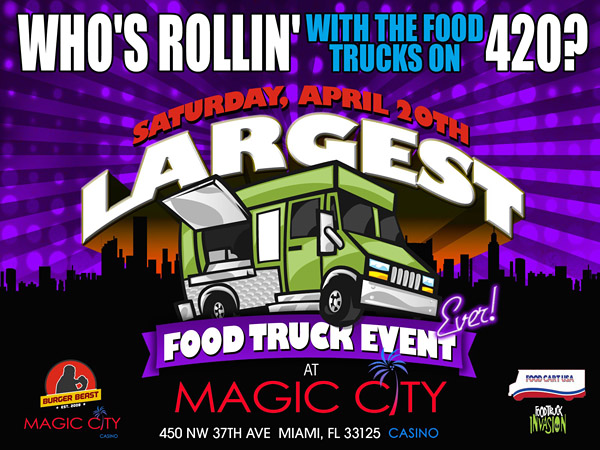 Largest Food Truck Event by Burger Beast in Miami, FL