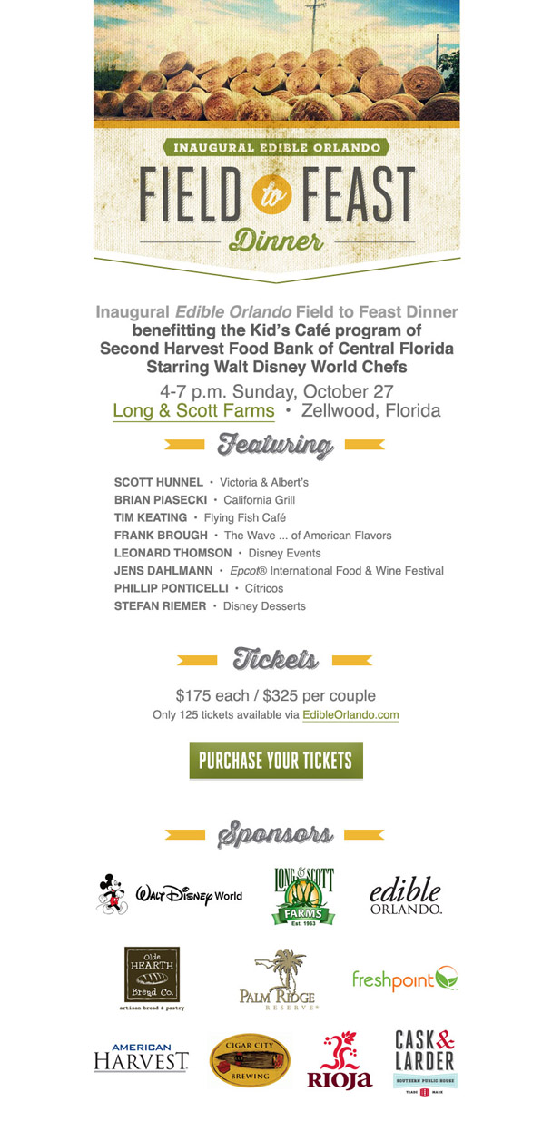 Edible Orlando 'Field to Feast Dinner'