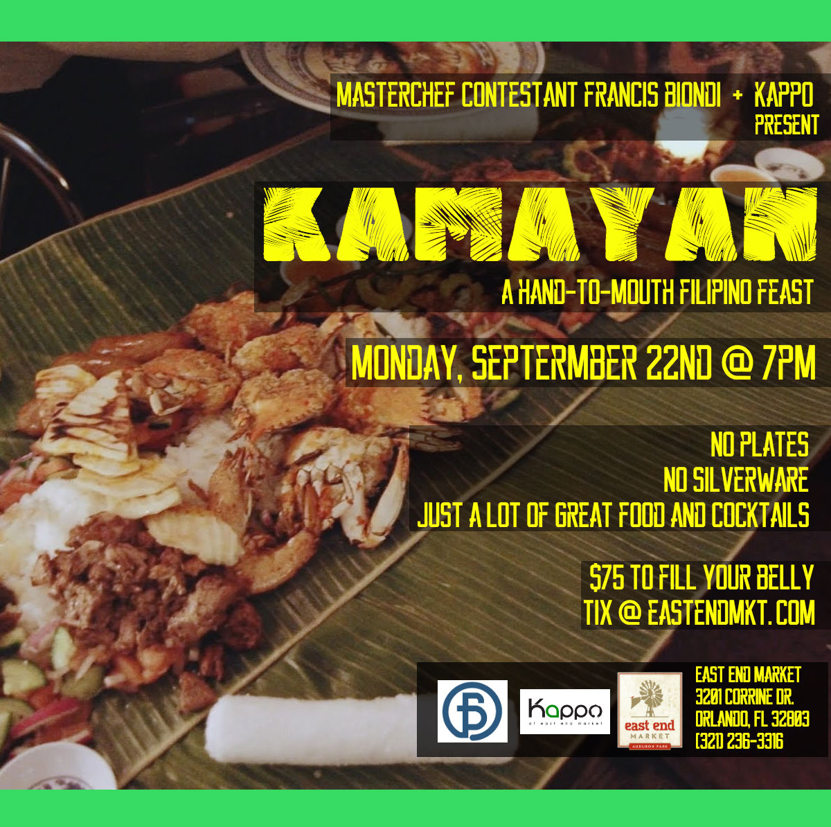 Kamayan: A Filipino Feast at East End Market in Orlando